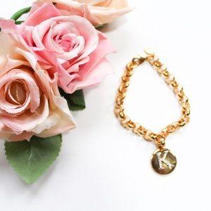 "Vintage Joan Rivers ""K"" Initial Chain Bracelet"